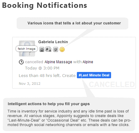 Booking Notifications